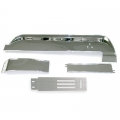 1967 Deluxe Brushed Aluminum Dash Trim Kit 4 Piece Kit, W/O A/C