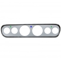 1965-66 Mustang  Custom 6 Gauge  Instrument Bezels Brushed Aluminum
