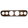1965-66 Mustang Custom 6 Gauge Instrument Bezels Walnut