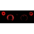 1967-68 Mustang Instrument LED Bulb Kits, Red