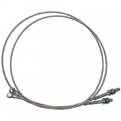 1965 Convertible Top Side Cables, Stud Type
