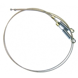 1965-68 Convertible  Top Side Cables, Spring Type