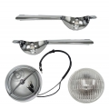 1965 GT MUSTANG FOG LAMP BAR KITS, Without Grille Horse Assembly,