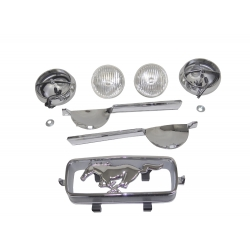 1966 GT MUSTANG FOG LAMP BAR KITS, (GT8 Fog Lamp Mounting Brackets Required)
