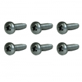 1965-73 Headlamp Ring Mounting Screws, Set of 6