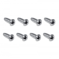 1965-66 Tail Light Door Screws, Chrome (8)