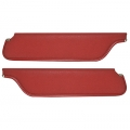 1965-68 Padded Sun Visors Coupe, 2+2 Bright Red