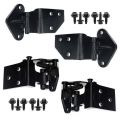 1965-73 Mustang Door Hinge Kits Late 1965-66 With Cone Lockwashers