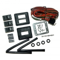 Power Window Conversion Kit 2 Window Switch/Wiring Kit, Black
