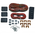 Power Window Conversion Kit 4 Window Switch/ Wiring Kit, Black