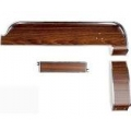 1968 Woodgrain Dash Trim Metal Back 3 Piece Kit
