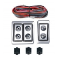 Power Window Conversion Kit 1970 Coupe Window Switch/Wiring Kit, Polished Aluminum
