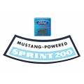 1966 Millionth Mustang Sprint 200 Package Air Cleaner Decal