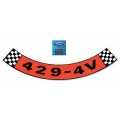 1969-71 429 4V Air Cleaner Decal