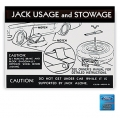 Late 1967-69 Jack Usage and Storage Decal After 1-1-67