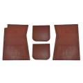 1964-73 Mustang Rubber Floor Mats, Brown