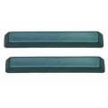 1966 Standard Arm Rest Pads, Turquoise Pair
