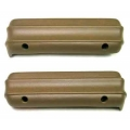 1971-73 Deluxe Arm Rest Pads, Ginger Pair