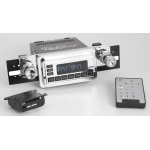 1964-66 Ford Mustang Retrosound Model One Chrome Am/FM Radio w/ Infinimount Bracket System