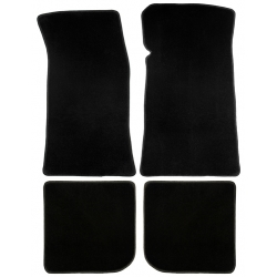 64-73 Floor Mats, plain black-no emblem (convertible)
