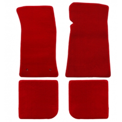 64-73 Floor Mats, red - no emblem (convertible)