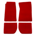 64-73 Floor Mats, Red - No Emblem (Coupe)
