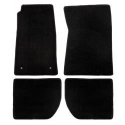 64-73 Floor mats, Black - No Emblem (Coupe)