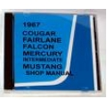 1967 Cougar,Falcon,Fairlane,Mercury Intermediate, mustang Shop manual CD