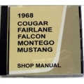 1968 Cougar,Falcon,Fairlane,Montego And Mustang Shop Manual