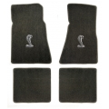79-93 Floor Mats, Grey w/Cobra Emblem