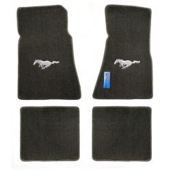 79-93 Floor Mats, Grey w/Silver Pony Emblem