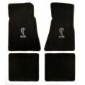 94-98 Floor mats, Black w/Cobra Emblem