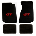 94-98 Floor mats, Black w/Red GT Emblem