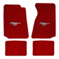 94-98 Floor mats, Red w/Silver Pony Emblem (Coupe)