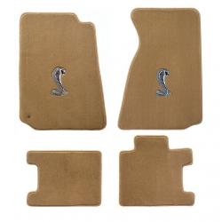 94-98 Floor mats, Parchment w/Cobra Emblem (Coupe)