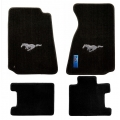94-98 Floor mats, Black w/Silver Pony Emblem
