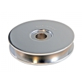 "1965-73 ANODIZED ALTERNATOR PULLEY - SILVER, 3"" DIAMETER"