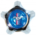 1967 WHEEL CENTERS - BLUE CENTER CAP FOR RALLY WHEELS - EACH