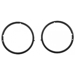 1971-72 Headlamp Bezel Pair (Black)