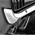 1967-68 BUMPER GUARDS,Rear, repro, chrome, use with rubber pad- pair