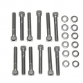 1965-73 INTAKE MANIFOLD DRESS-UP BOLTS, ALLEN HEAD, PACKAGE OF 12
