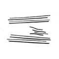 1967-68 BELT LINE WEATHERSTRIP KIT COUPE 8 PC