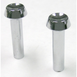1965-66 Door Latch Knob, Chrome (Pair)