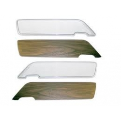 1969-70 Deluxe Door Panel Inserts W/ WoodGrain Appliques(Light Tweak inserts)PAIR