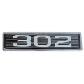 "1969 Hood Scoop Number Plate ""302"""