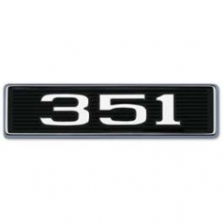 "1969 Hood Scoop Number Plate ""351"""