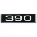 "1969 Hood Scoop Number Plate ""390"""