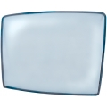 1967-68 MUSTANG FASTBACK REAR WINDOW GLASS, Clear, with rubber seal.