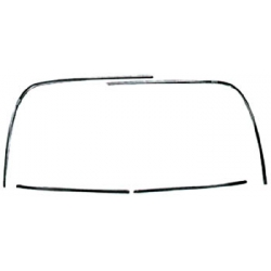 1965-66 Rear Window Molding Set Coupe