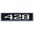 "1969 Hood Scoop Number Plate ""428"""
